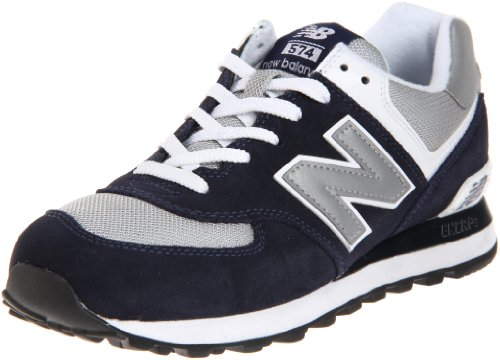 New Balance Men's ML574 Lifestyle Sneaker,Navy/Grey,8.5 D - Models Look Nu