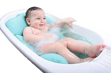 hellblau Pomfitis bbjlb1 Baby Joy Gepolsterte Badewannensitz