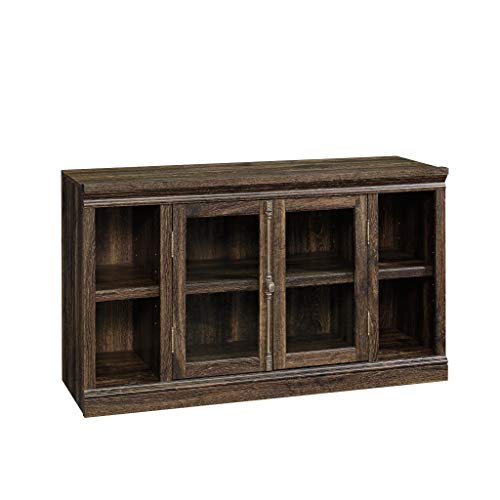 Sauder Barrister Lane Entertainment Credenza, Iron Oak finish