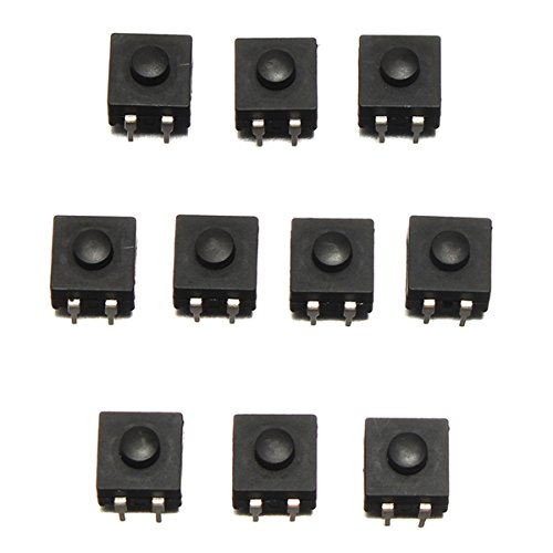 10Pcs DIP PCB Mini Latching Tactile Tact Push Button Switch 12x12x9mm