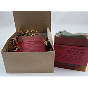 Lumberjack Soap For Men Pine Forest Man Scent Comes In Gift Box Handmade With Natural Ingredients Such as Coconut Olive Oil and Coconut Milk (2 Pack)