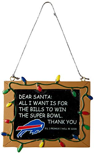 - Buffalo Bills Resin Chalkboard Sign Ornament