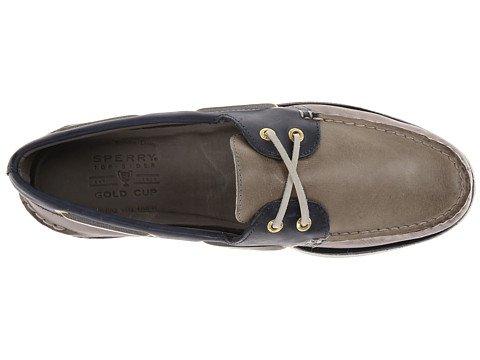 Sperry Top-Sider Men's Gold A/O 2-Eye Grey/Blue Boat Shoe 8.5 W (EE)