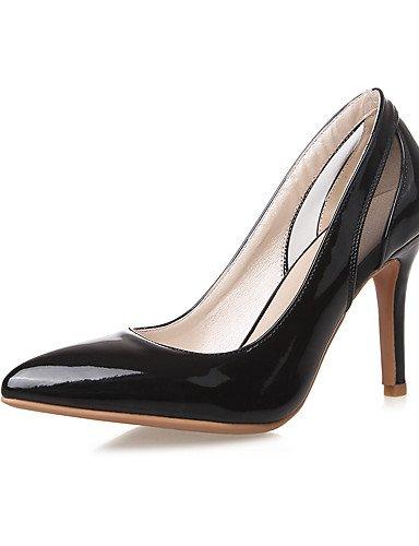 GGX/Damen Schuhe Patent Leder Sommer/spitz Toe Heels Office & Karriere/Casual Stiletto-Absatz andere schwarz/pink/weiß white-us8 / eu39 / uk6 / cn39