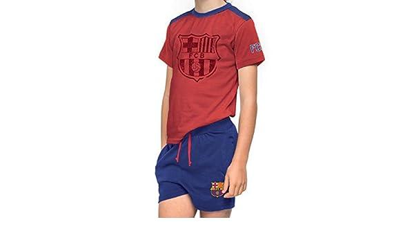 Pijama Adulto FC BARCELONA-BARÇA Manga Corta: Amazon.es: Ropa y accesorios