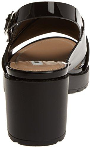 Argent Plexy MTNGC Bout Femme Ouvert Sandales Collection Noir MTNG qwC0aE
