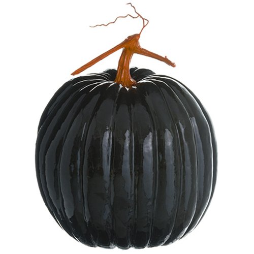 11.5''Hx8.5''W Artificial Pumpkin -Black/Orange (pack of 4) by SilksAreForever