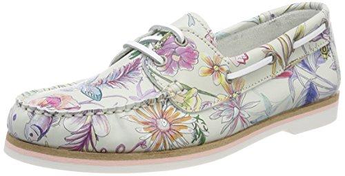 Flower loafers 23616 offwht Mocassins Blanc Femme Tamaris xwHYcaE6qx