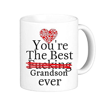 Amazon.com: LRERAYPO Grandson Gifts Funny Quotes You\'re the ...