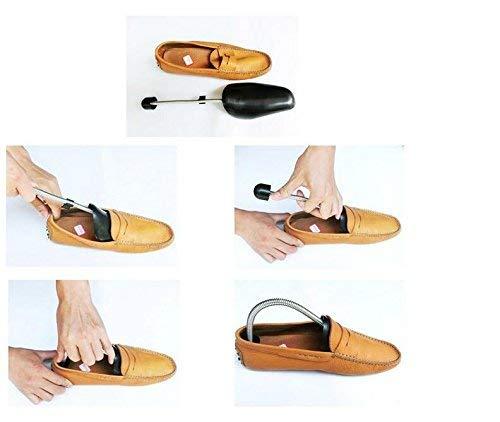 VASANA 4/Paires Plastique Noir Ajustable Embauchoirs Portable Automatique Support en Forme de Chaussure civi/ère Boot Support avec Ressort de Tension de la Bobine pour Chaussures pour Homme