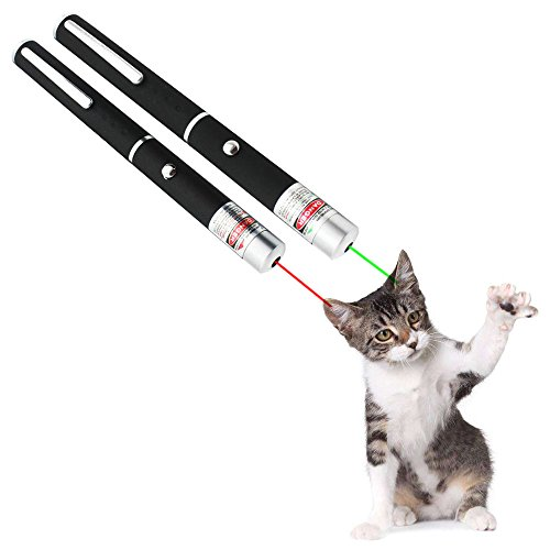 417N1wmIIBL - OCALER Professional Cat Catch the Beam Light - Three Colors (Green, Red, Blue) - Interactive Exercise Toy Pet Cat Training Tool (Green+Red)