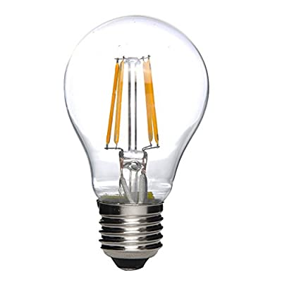 MADKING 6W A19 LED Filament Bulb Edison Style Light Bulbs Warm White Clear Glass Cover