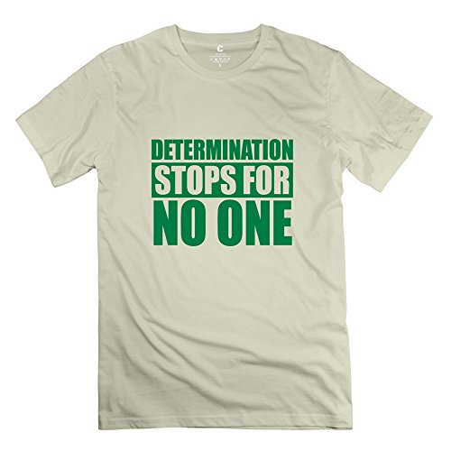 Custom Make Men's T-shirts Cute Determination Stops No One Stayflyclothingcom Size XS Natural