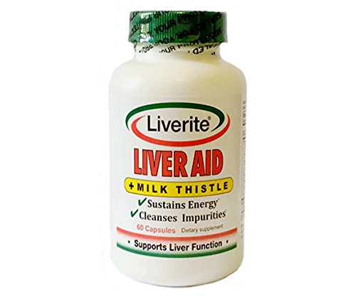 Liverite Liver Aid with Milk Thistle 60 Capsules, Liver Support, Liver Cleanse, Liver Care, Liver Function, Energy by Liverite
