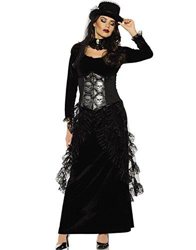 Women's Gothic Victorian Costume - Dark Mistress Black Medium ()