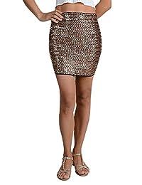 Anna-Kaci Womens Slim Body Con Stretch Sequin Short Mini Pencil Party Skirt