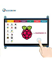 voor Raspberry Pi, ELECROW 7 inch Raspberry Pi touchscreen monitor 1024X600 HDMI IPS scherm voor Raspberry Pi 4, Raspberry Pi 3, laptop en andere apparaten die uit de Put HDMI-signalen