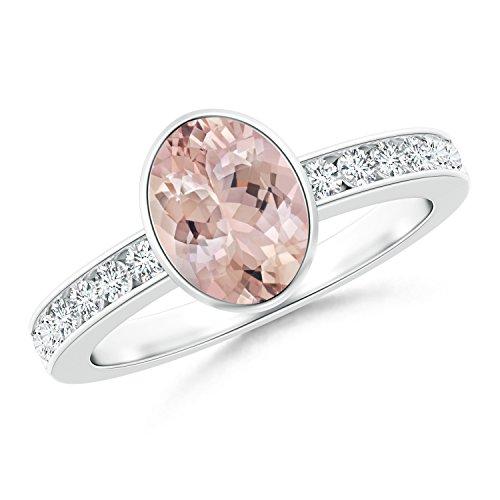 Ladies Channel Set Diamond Bezel - 4