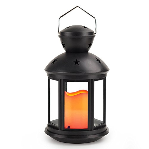Vintage HEXAGON Flickering Flameless Included