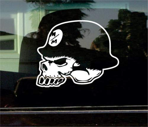 Bumper Sticker for Cars, Trucks, Laptops - Metal Mulisha Skull 8 INCH Vinyl Decal/Sticker