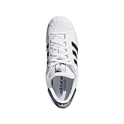 adidas Originals Women's Superstar Sneaker, White/Purple Night Metallic/White, 10