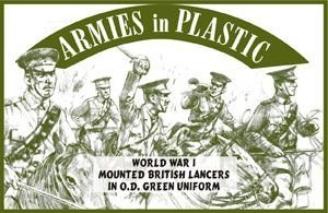 (WWI British Lancers in O.D. Green Uniform (5 Mounted) 1-32 Armies in Plastic)