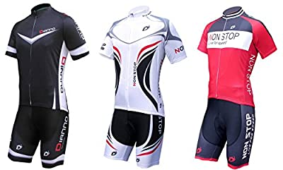 """Dianno NonStop club 3.0"""" Breathable Cycling Short Sleeve Jersey And Bib Short .Set clothing. 18 Styles for choose."""