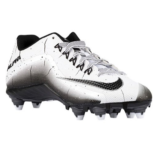 Nike Mens Alpha Pro 2d low Football Cleat ( 12 D (M) US , white / black ) (White Nike Cleats Football)