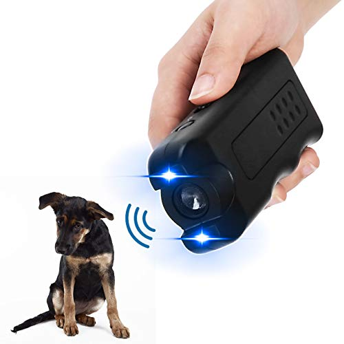 APlus+ Handheld Dog Repellent, Ultrasonic Infrared Dog Deterrent, Bark Stopper + Good Behavior Dog Training (Upgraded-Black)