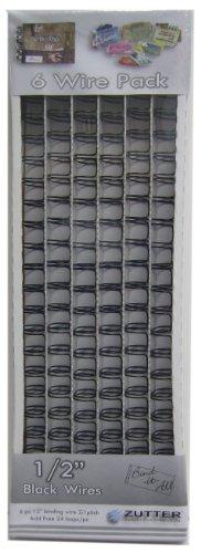 Zutter Owire 1/2-Inch, 6-Piece, Black