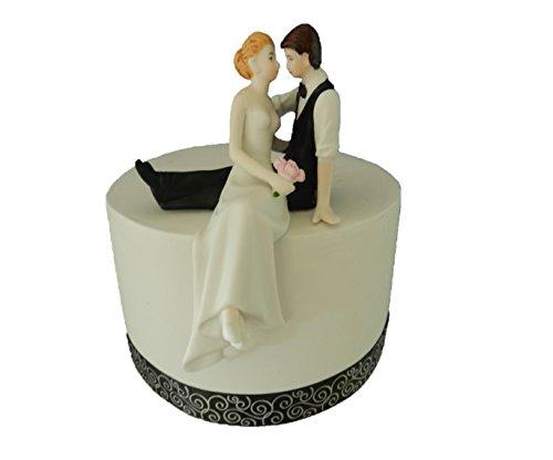 Wedding Treazures Romantic Look of Love Bride and Groom Wedding Cake Topper (Wedding Porcelain)
