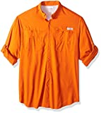 Columbia Men's Tamiami Ii Big & Tall Long Sleeve Shirt, Backcountry Orange, 4X