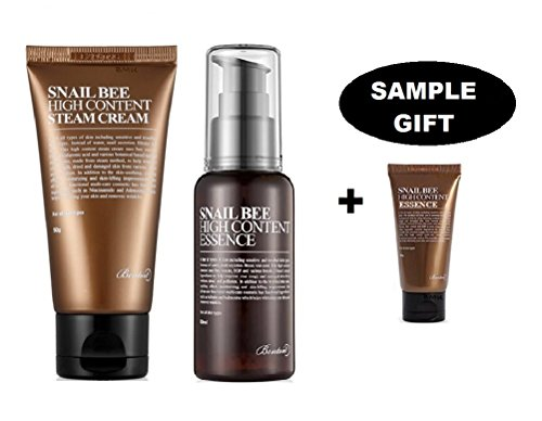 benton snail bee high content essence 60 ml (Snail Essence) & Benton Snail Bee High Content Steam Cream (50 ml) with FREE Gift