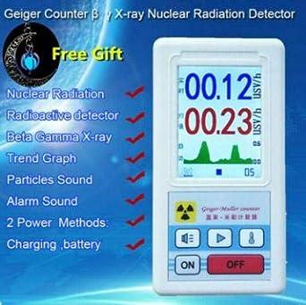 Detector de radiación nuclear Changli Geiger, detector de radiación Beta Gamma X-Ray, medidor personal de mármol, detector radiactivo: Amazon.es: Industria, ...