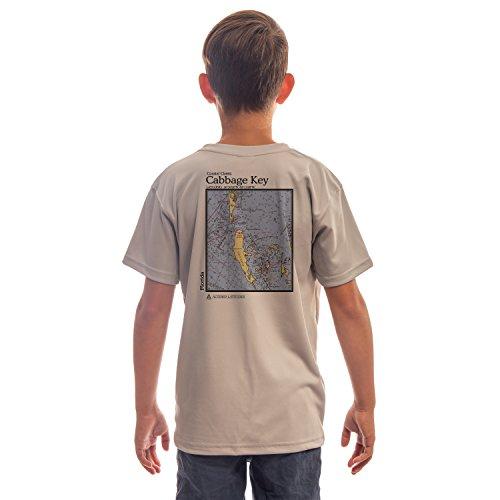 Coastal Classics Cabbage Key Youth UPF 50+ Sun Protection Short Sleeve T-Shirt Medium Athletic Grey