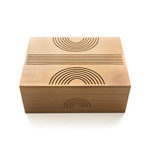 - Reflection Laser Cut Wood Keepsake Box (Wedding Gift/Baby Shower Gift/Heirloom/Decorative/Handmade/Personalized Available)