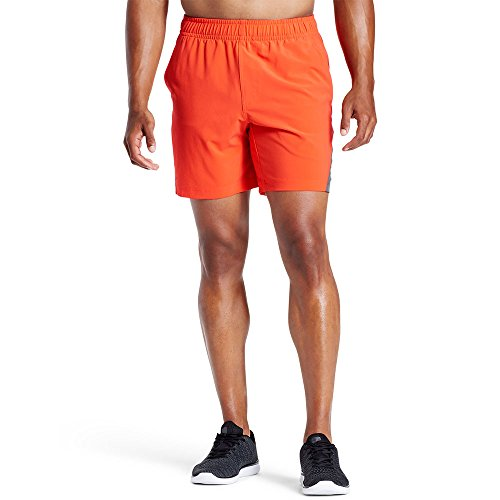"Mission Men's VaporActive Fusion 7"" Athletic Shorts, Cherry Tomato/Iron Gate, X-Large ()"
