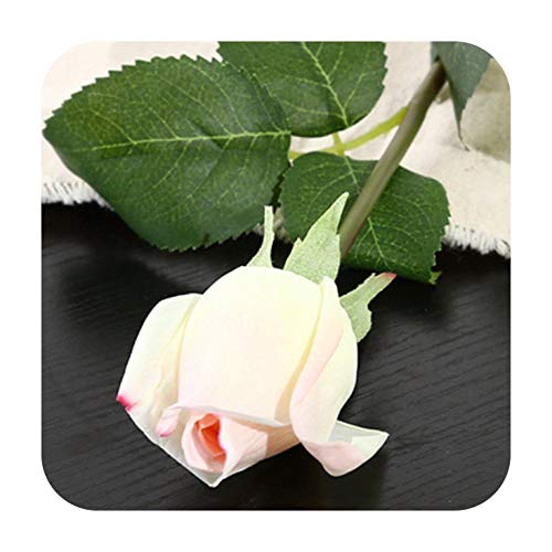 Artificial Fowers 10Pcs 11Pcs/Lot Latex Rose Artificial Flowers Real Touch Rose Flowers for Year Home Wedding Decoration Party Birthday Gift,C White Pink 3,11Pcs]()