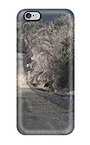 New Space Subs Super Strong Winter Nature Snow Trees Sky Tpu Case Cover For Iphone 6 Plus