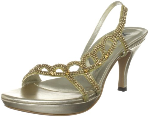 Unze Evening Sandals, Damen Sandalen Gold (L18452W)