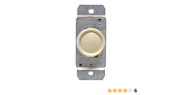 New Leviton 3-Way Push On//Off Dimmer Incandescent 600W No 6683.