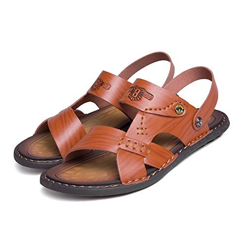 Sandali Marrone da Shoes Traspiranti Switch On Uomo da Slip Scarpe Cricket Strap Backless TrTw6qBx