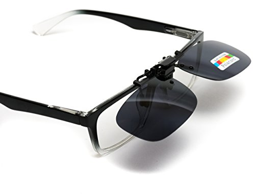 WearMe Pro - Polarized Lighweight Clip on - Clip Ons Prescription With Glasses