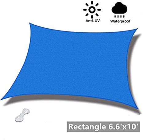 UV Block Sunscreen Awning Canopy Sun Sail Sunscreen Canopy for Outdoor Patio Garden Backyard Waterproof Sun Protection with Free Rope mychoose Rectangle Sun Shade Sail 2m x 3m
