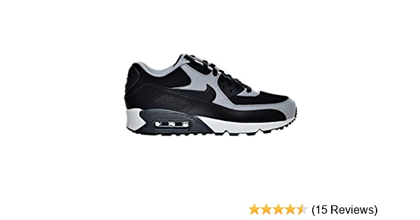 hot sale 2cf3a 82ddf Amazon.com   Nike Air Max 90 Essential Men s Shoes Black Wolf Grey Anthracite  537384-053 (8.5 D(M) US)   Road Running
