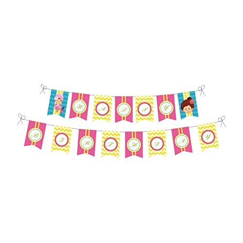 Spa Party. Spa Party Birthday Decorations for Girls. Spa Day. Includes Party Hats, Centerpieces, Bunting Banner, Danglers and Cupcake Toppers. by W&N Distribution (Image #1)