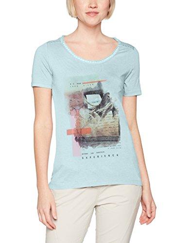 s.Oliver, Camiseta para Mujer Türkis (Bleached Aqua Placed Pr. 60D0)