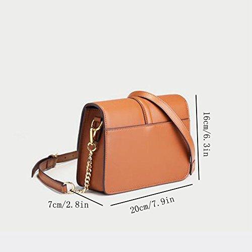 Eleganti Borsa A Messenger Moda Borse Tracolla Brown Mini Semplice E9WIYbDeH2