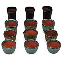 Happy Bonsai 12 Mini Glazed Pots