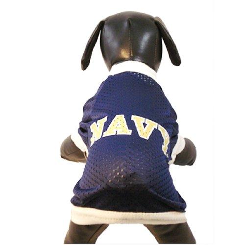 NCAA Navy Midshipmen Athletic Mesh Dog Jersey (Team Color, X-Large)